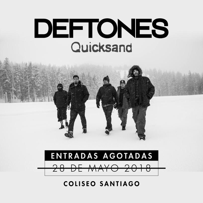 Deftones confirma segunda fecha en Chile