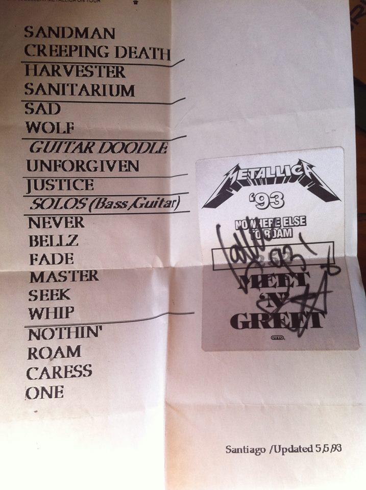 Metallica Setlist 1993
