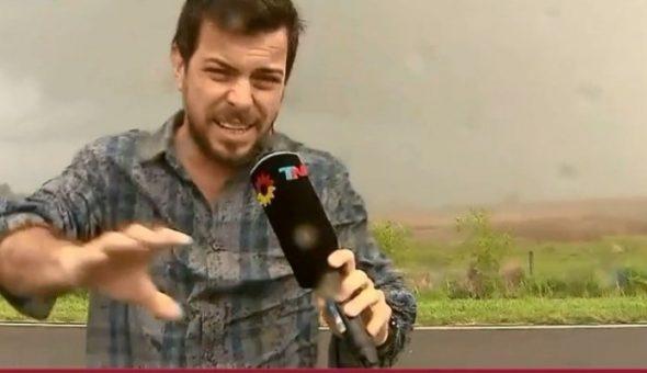 Transmitió en vivo de una granizada y su camarógrafo terminó herido