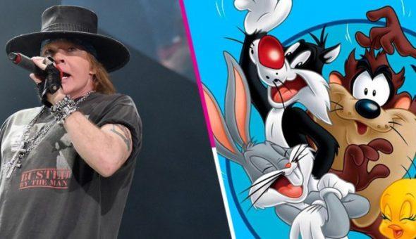 Axl Rose apareció en los Looney Tunes con una nueva canción