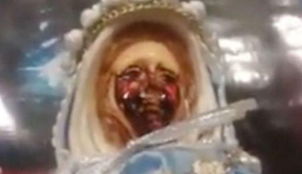 Virgen de la Rosa mística volvió a 'llorar sangre' en Argentina