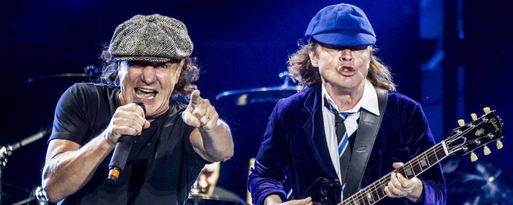 AC/DC Angus Young Brian Johnson
