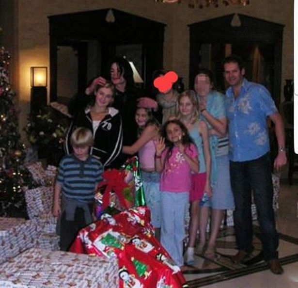 Michael Jackson y Lucy Lester pasando juntos la navidad
