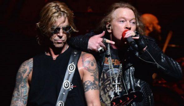 Duff mckagan y Axl rose
