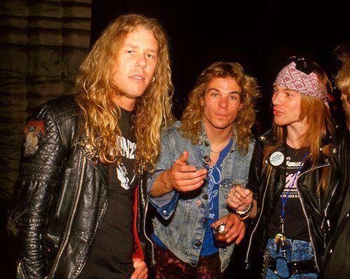 Baúl de los recuerdos: Metallica y Guns n' Roses en el mismo escenario