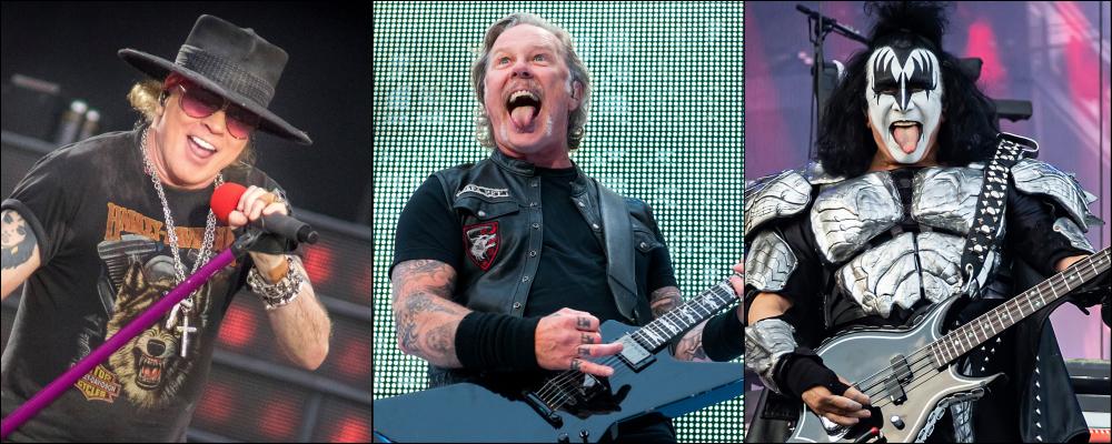 Guns N' Roses Metallica Kiss