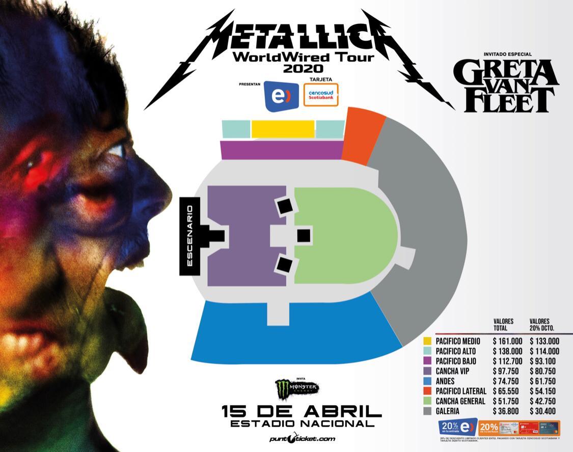 Precios Metallica