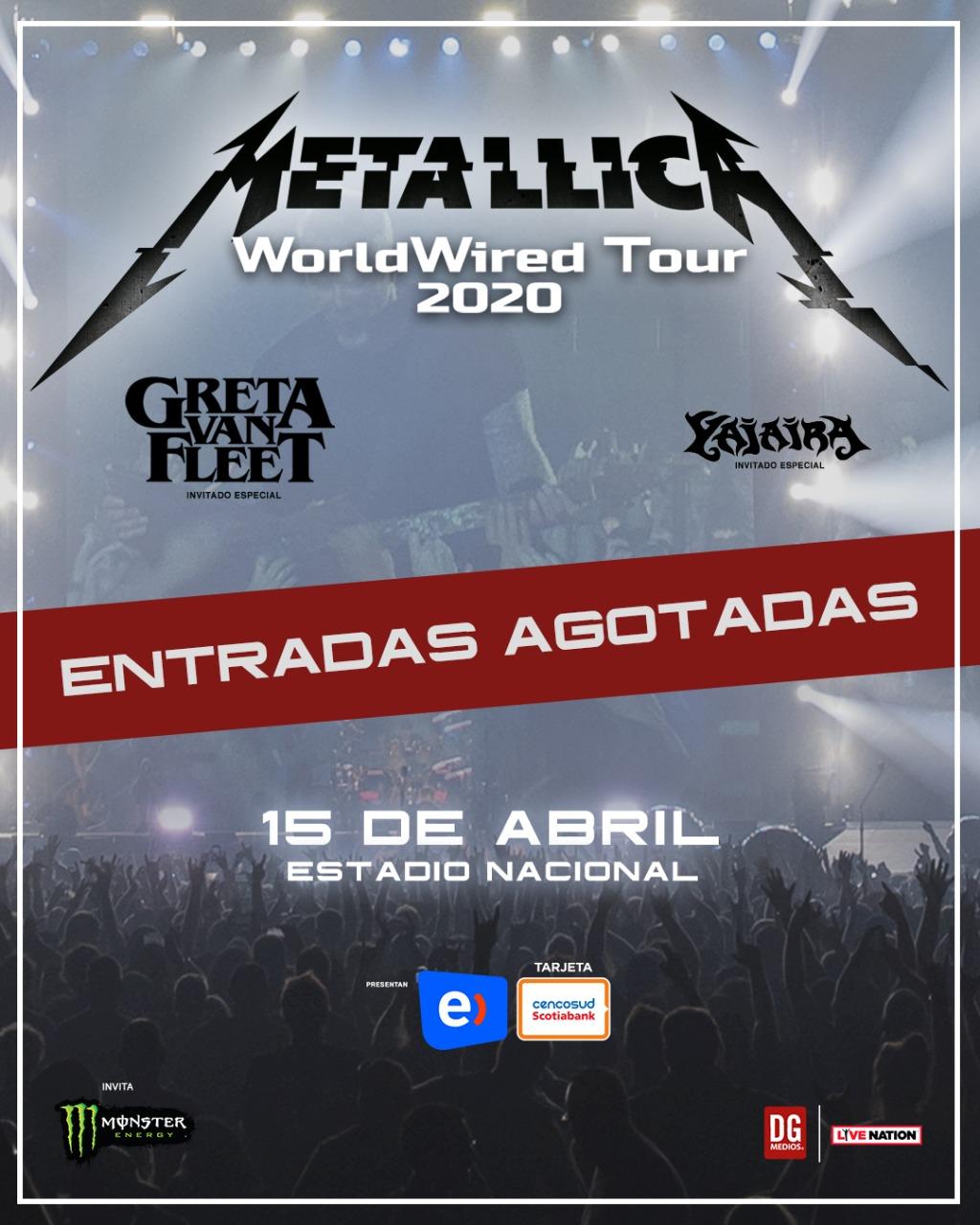 metallica tour 2020