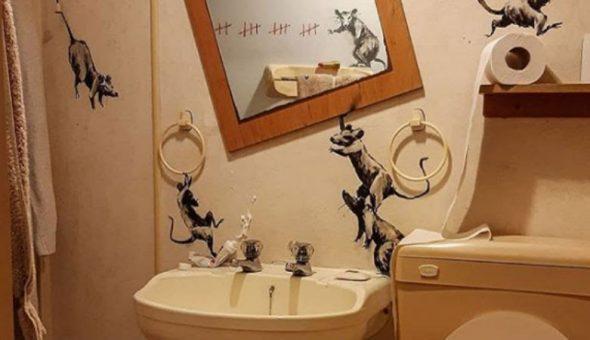 banksy baño cuarentena