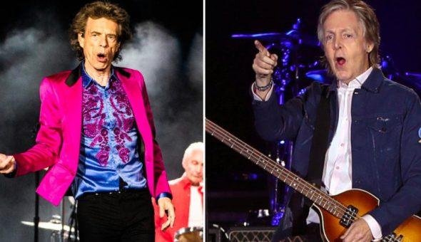 Beatles Rolling Stones Jagger McCartney