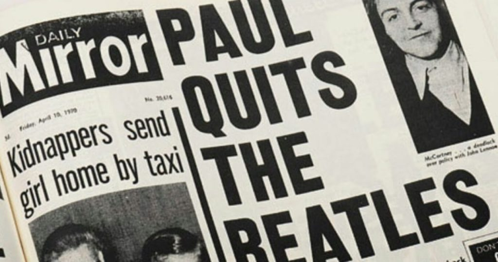 Paul Quits The Beatles Web Ok