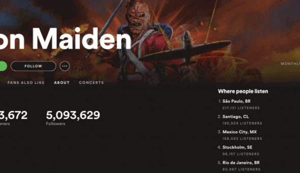 iron maiden spotify