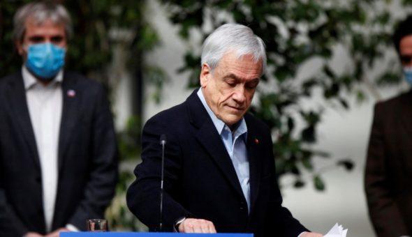 Aprobacion ciudadana de Piñera y sus ministros se desploma — Cadem