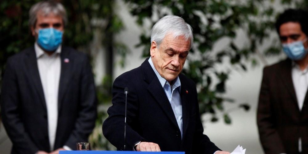 Cadem: aprobacion ciudadana de Piñera y sus ministros se desploma