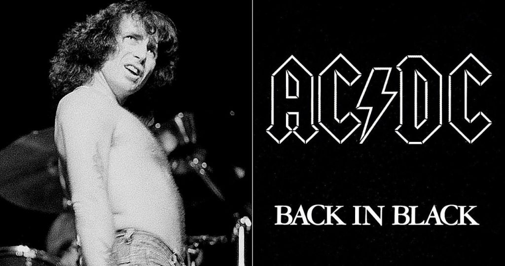Bon Scott AC/DC Angus Young Back In Black