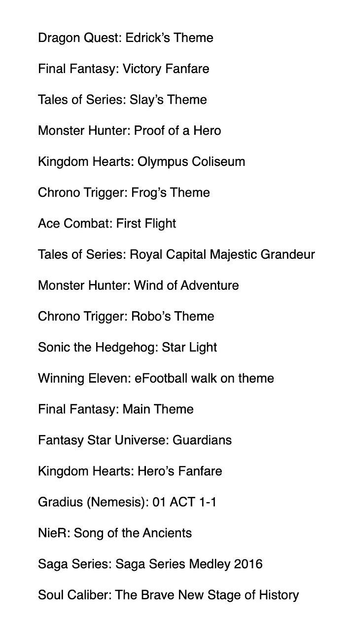 Juegos Olimpicos Musica Lista