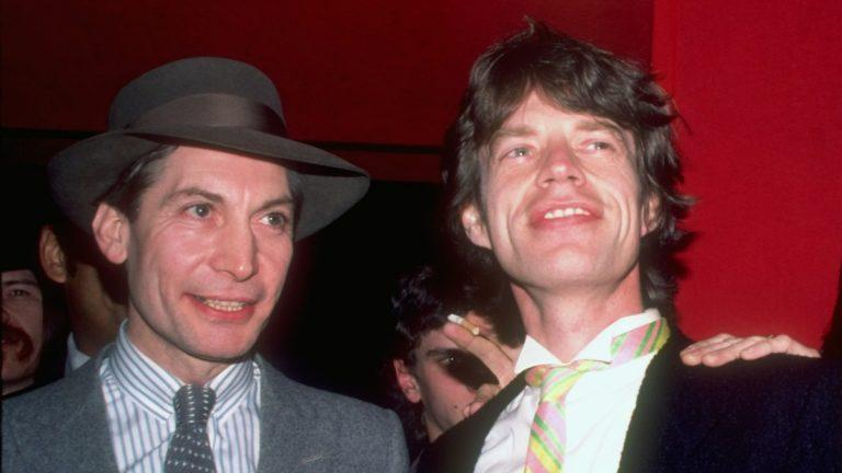 Charlie Watts Mick Jagger 1983