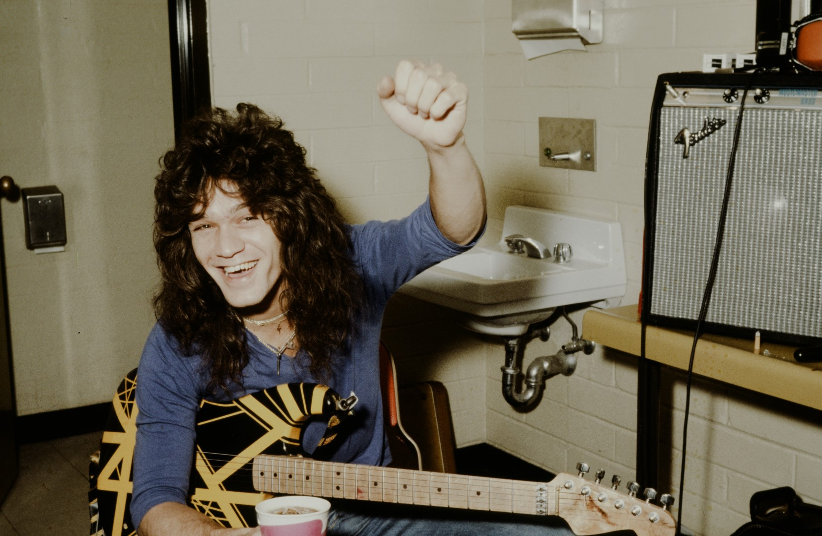 Eddie Van Halen Backstage